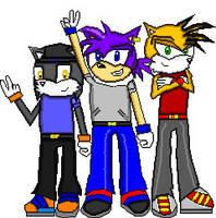Flash, Cody and Rocko by Silverfur15