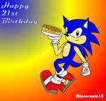 Happy 21st B-day Sonic