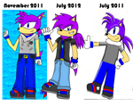Old To New Flash The Hedgehog