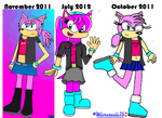 Old To New Vanessa The Hedgehog