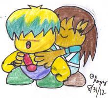 RQ: Celine Hugs Tuff by Silverfur15