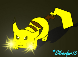 Pikachu Use Thunder Bolt!! by Silverfur15