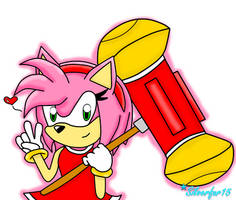 Amy Rose by Silverfur15