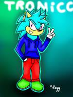 GiftArt: Tronicc The Hedgehog by Silverfur15