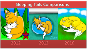 Sleeping Tails Comparisons by Silverfur15