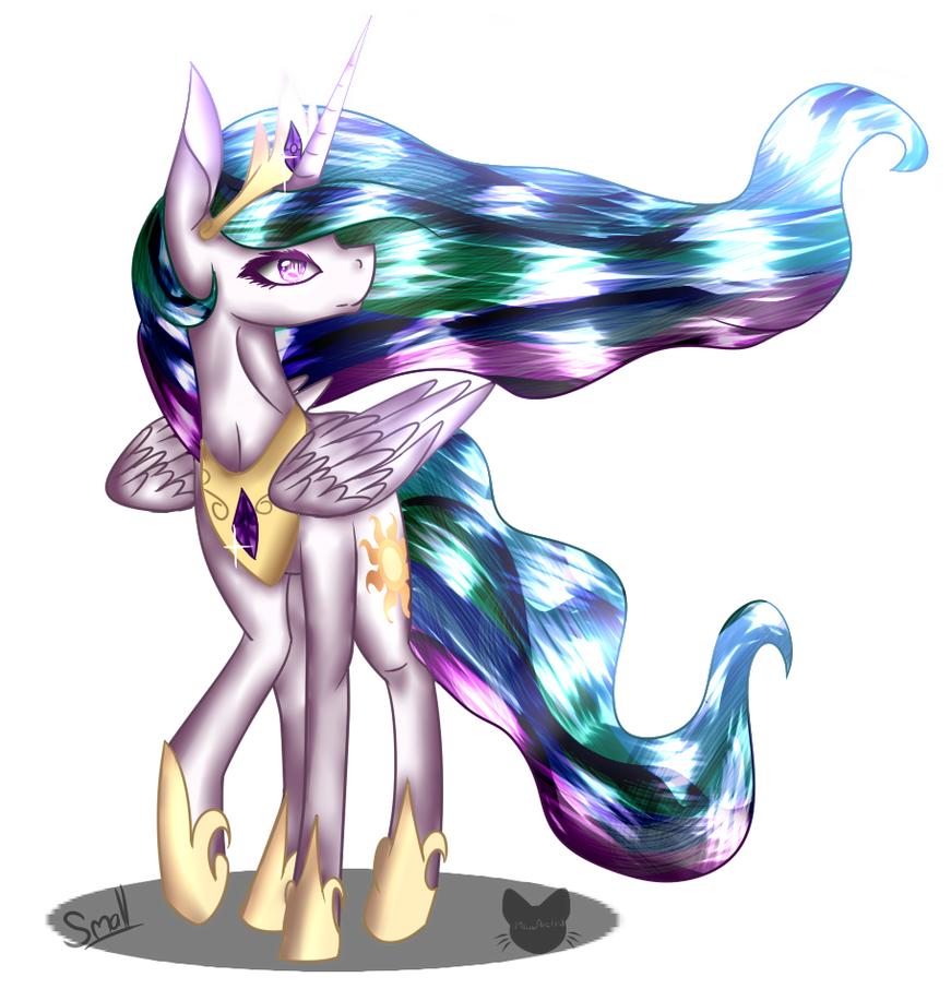 Princess Celestia - Collab by MeowArtHU