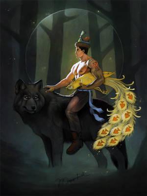John The Prince On Wolf by Musyupick