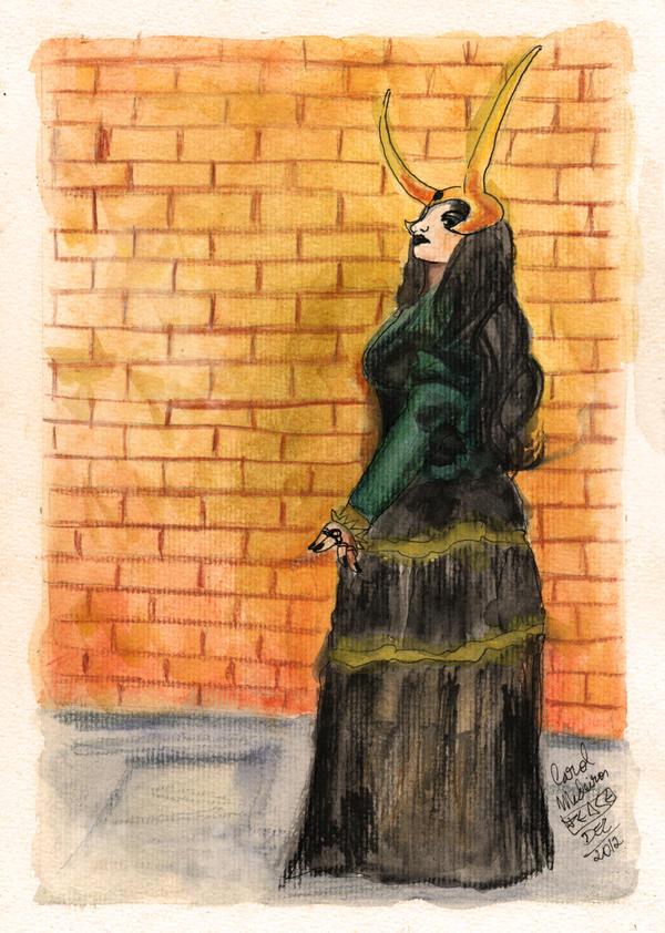 Steampunk Lady Loki by PeaceMakerSama