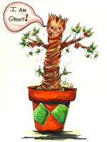 Baby Groot by PeaceMakerSama