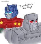 wfc siege optimus and megatron