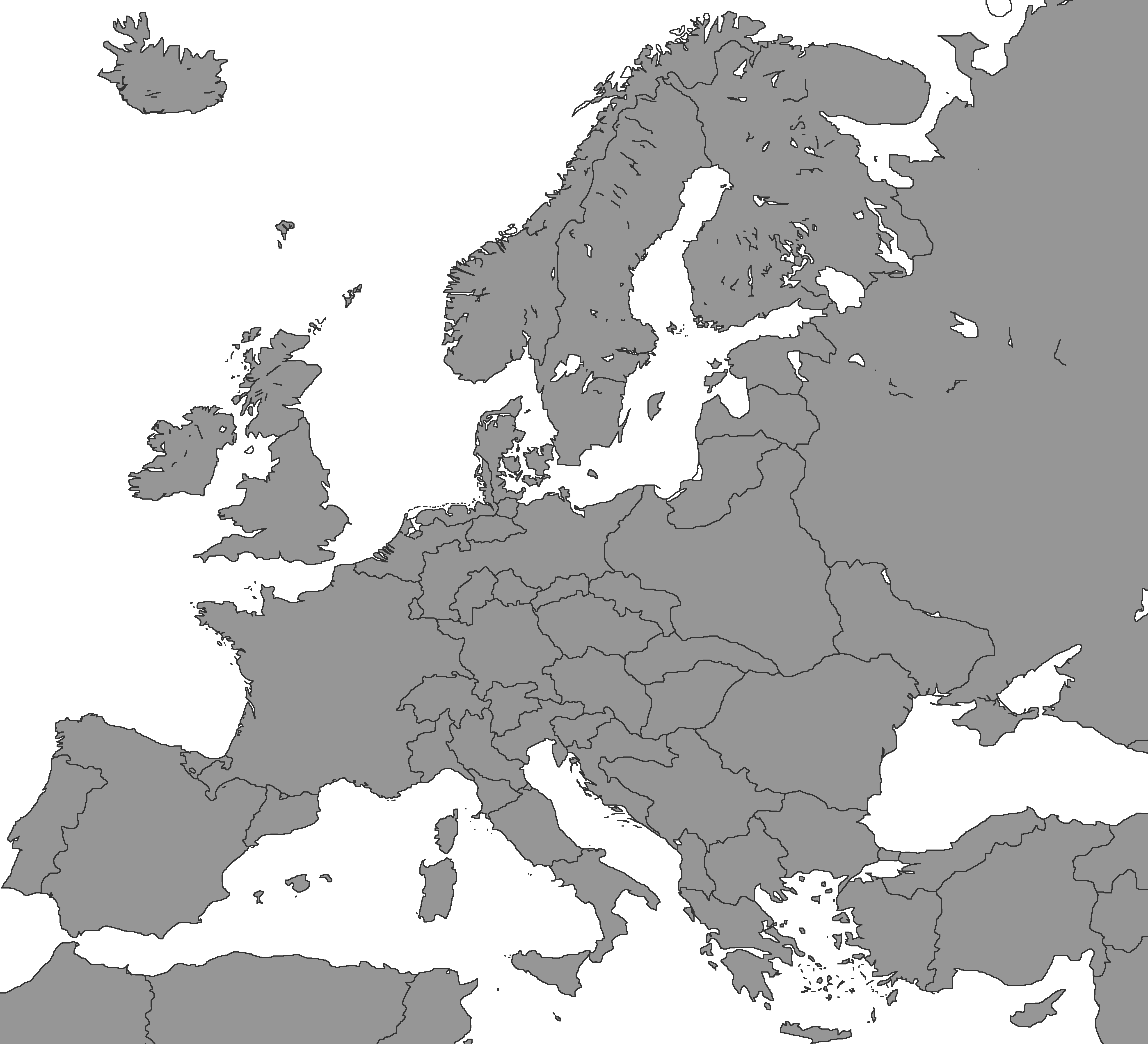 Blank Map Of Europe - Us electoral map blank 2016