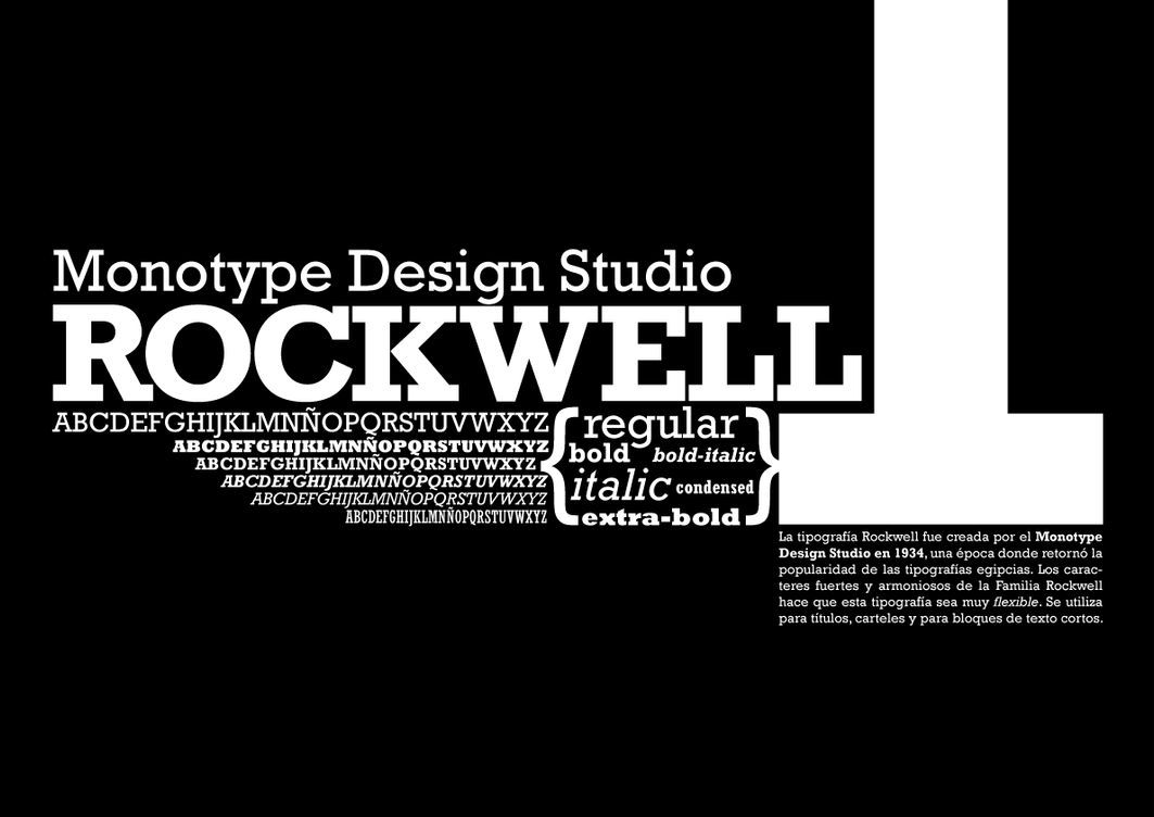 List of Synonyms and Antonyms of the Word: rockwell font