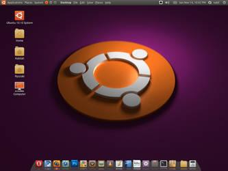 My Ubuntu 10.10 desktop by ghogaru