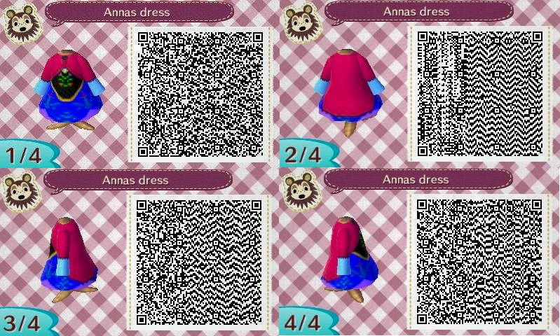Animal crossing Qr code : Anna from frozen by IamNasher