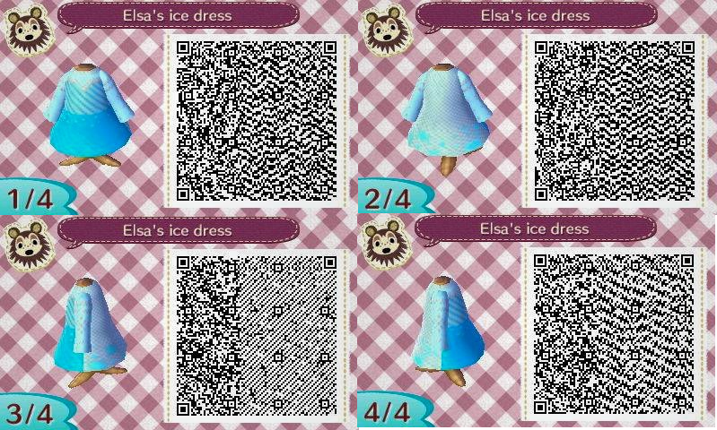 Animal crossing Qr code : Elsa's ice dress by IamNasher
