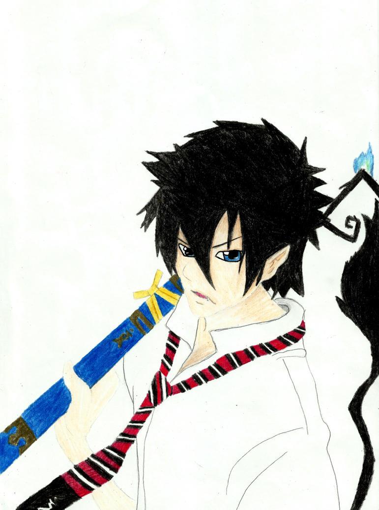Rin Okumura by IamNasher