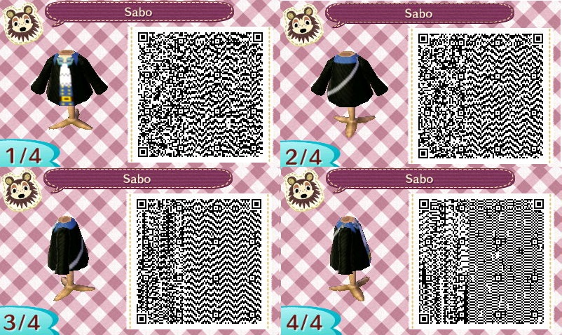 Animal crossing Qr code : One piece sabo by IamNasher
