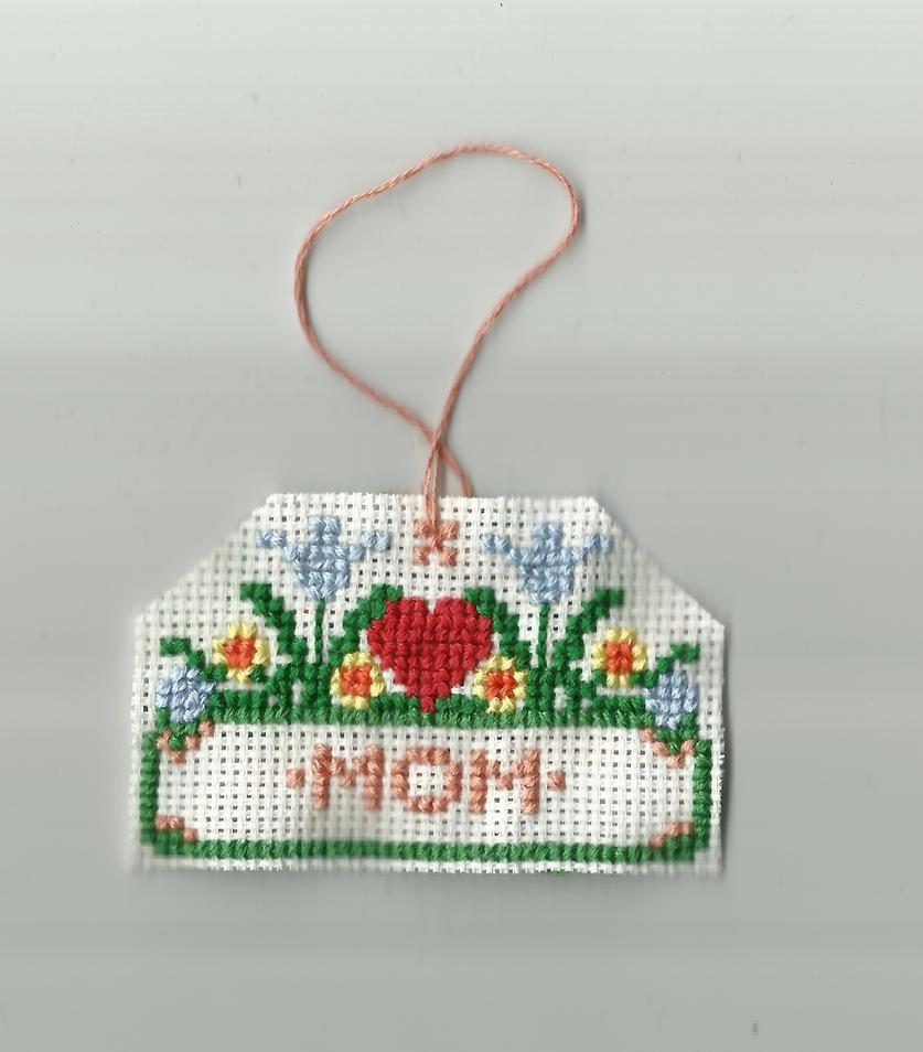 Mom Cross stitch tag by IamNasher