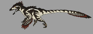 Land Eagle - Utahraptor by Spikeheila