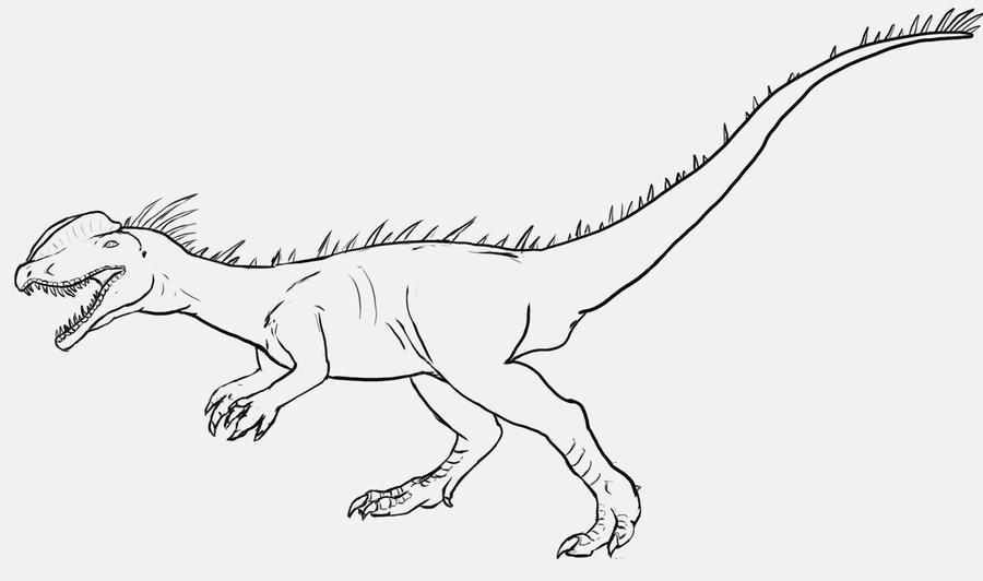 Dilophosaurus by spikeheila on deviantart for Dilophosaurus coloring page