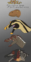 Donsaur: Spinosaur Heads you're doing them wrong