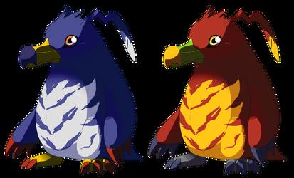 Penguinmon and Muchomon