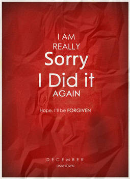 Sorry - Stained Poster