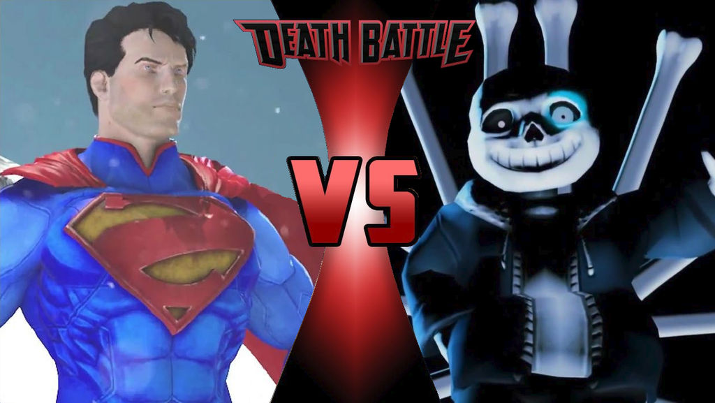 SA Superman vs AR Sans Death Battle by SilverTrunks06 on