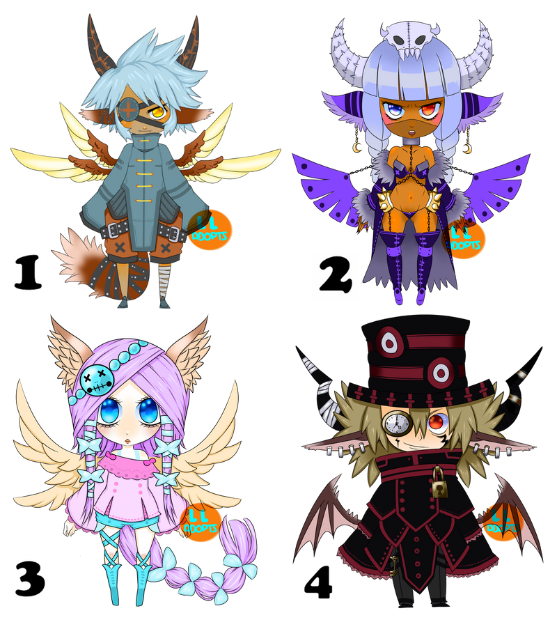 Adoptable Chibi SET [OPEN 1/4] by Grid-Works