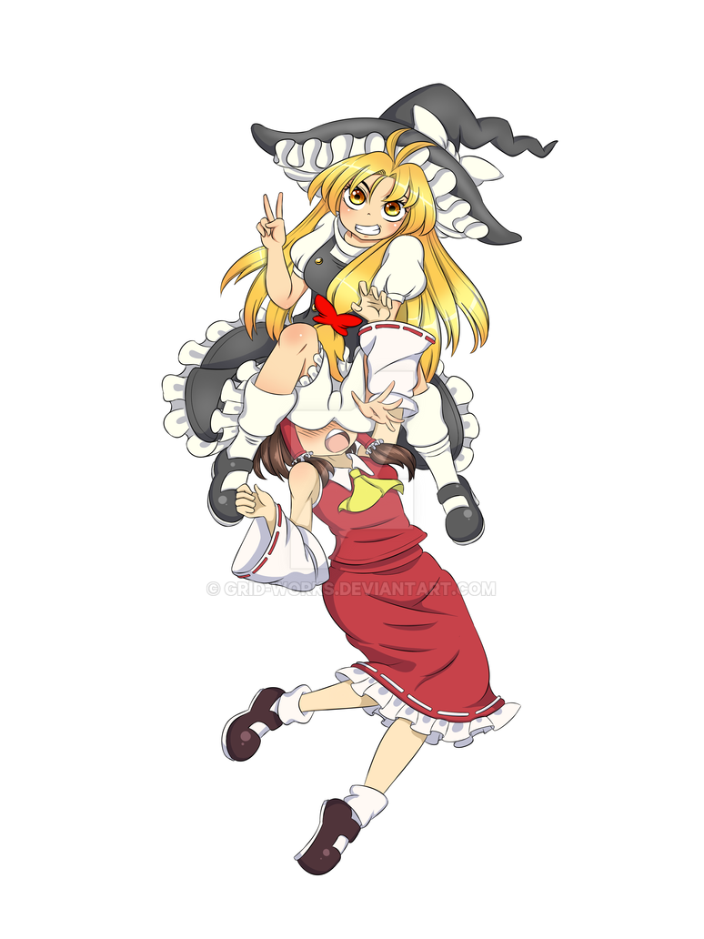 [COMM] - Marisa and Reimu by Grid-Works
