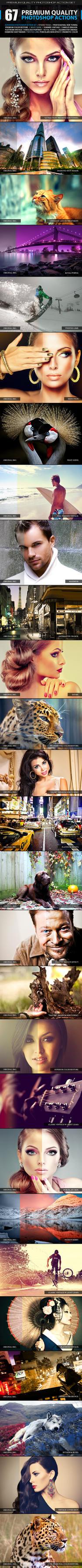 67 Premium Photoshop Actions by SixStarStudio