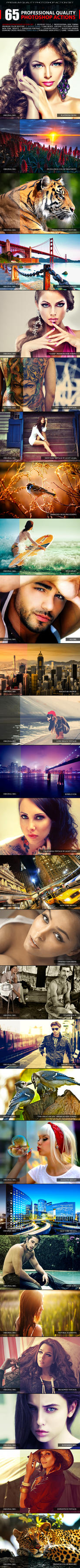 65 Professional Quality Actions by SixStarStudio