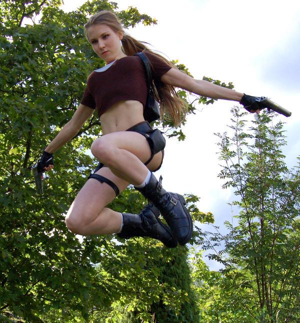 Lara Croft jump