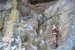Lara exploring