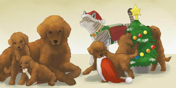 Christmas dogge by koru1243