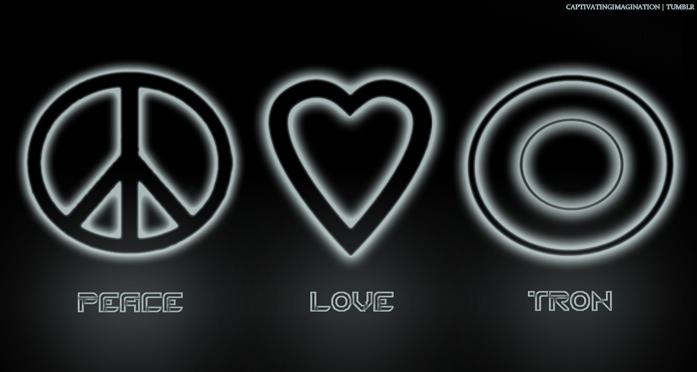 Peace Love TRON by Gipity88