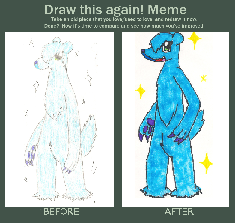 Before And After Meme Shiny Beartic By Hotpinkdragon On Deviantart