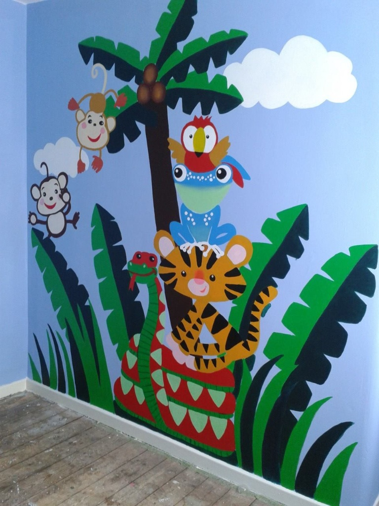 Jungle Theme Wall Painting By Pl1980 On Deviantart
