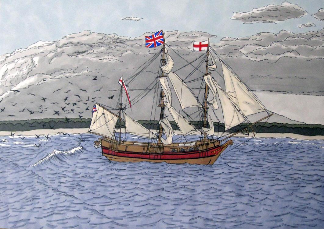 HMS Beagle by Lydiya on deviantART