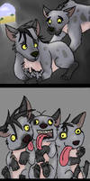 the lion king hyenas by yell0wducks