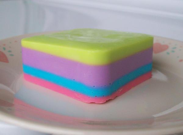 4 Layer Rainbow Soap by jam-tart