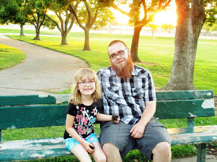 Haley and daddy by cassidied