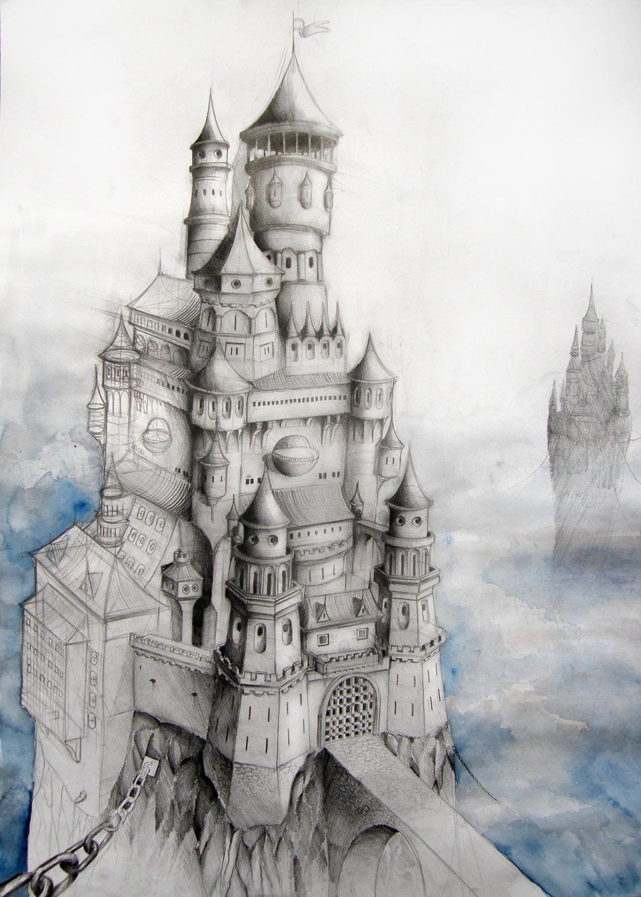 Cloud Fantasy Castle by AdrianBorgnine on DeviantArt