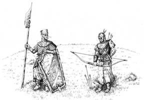 Two Bretonnian Rednecks by AdrianBorgnine