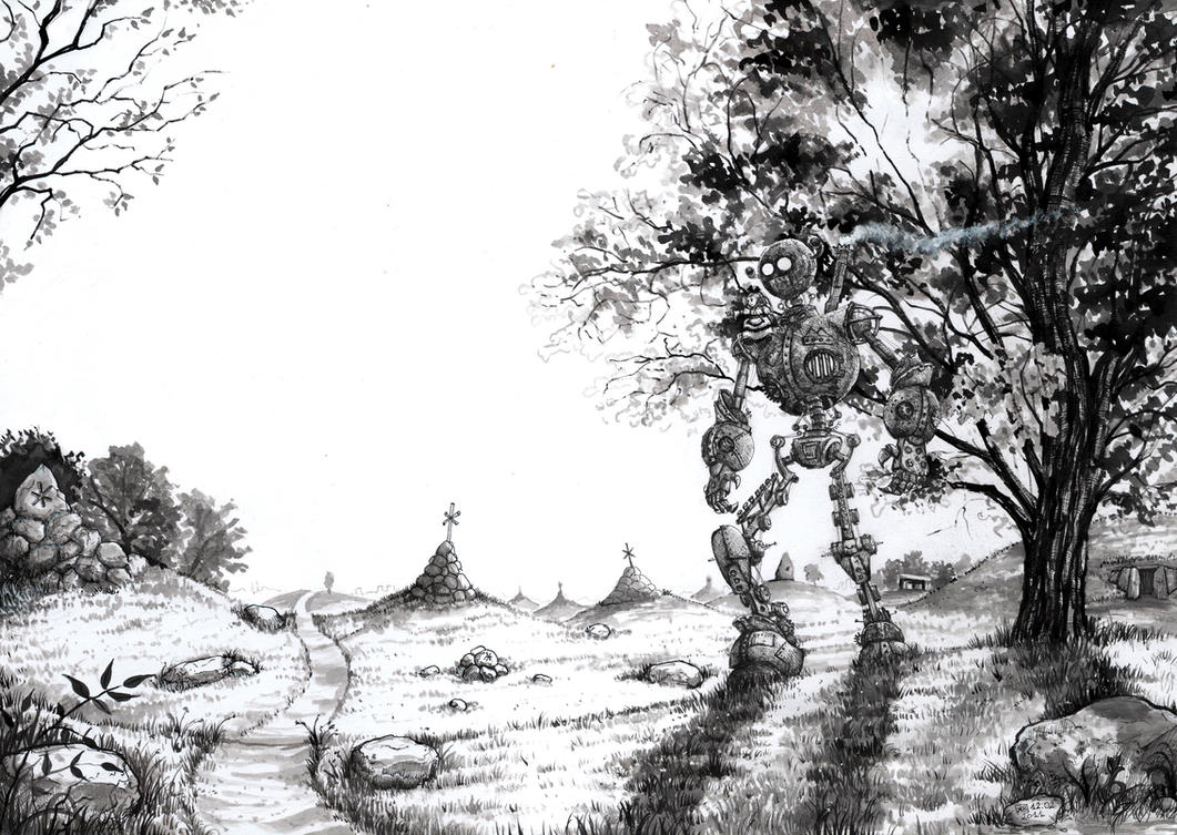 Grave Field by AdrianBorgnine