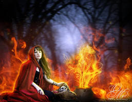 - Red Riding Hood - by OmniaMohamedArt