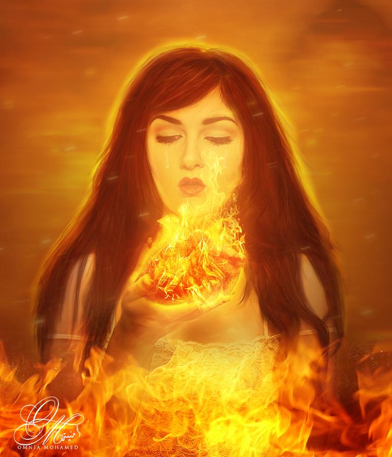 - My Heart is Burning - by OmniaMohamedArt
