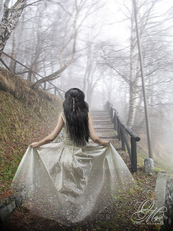 - Following My Own Path - by OmniaMohamedArt