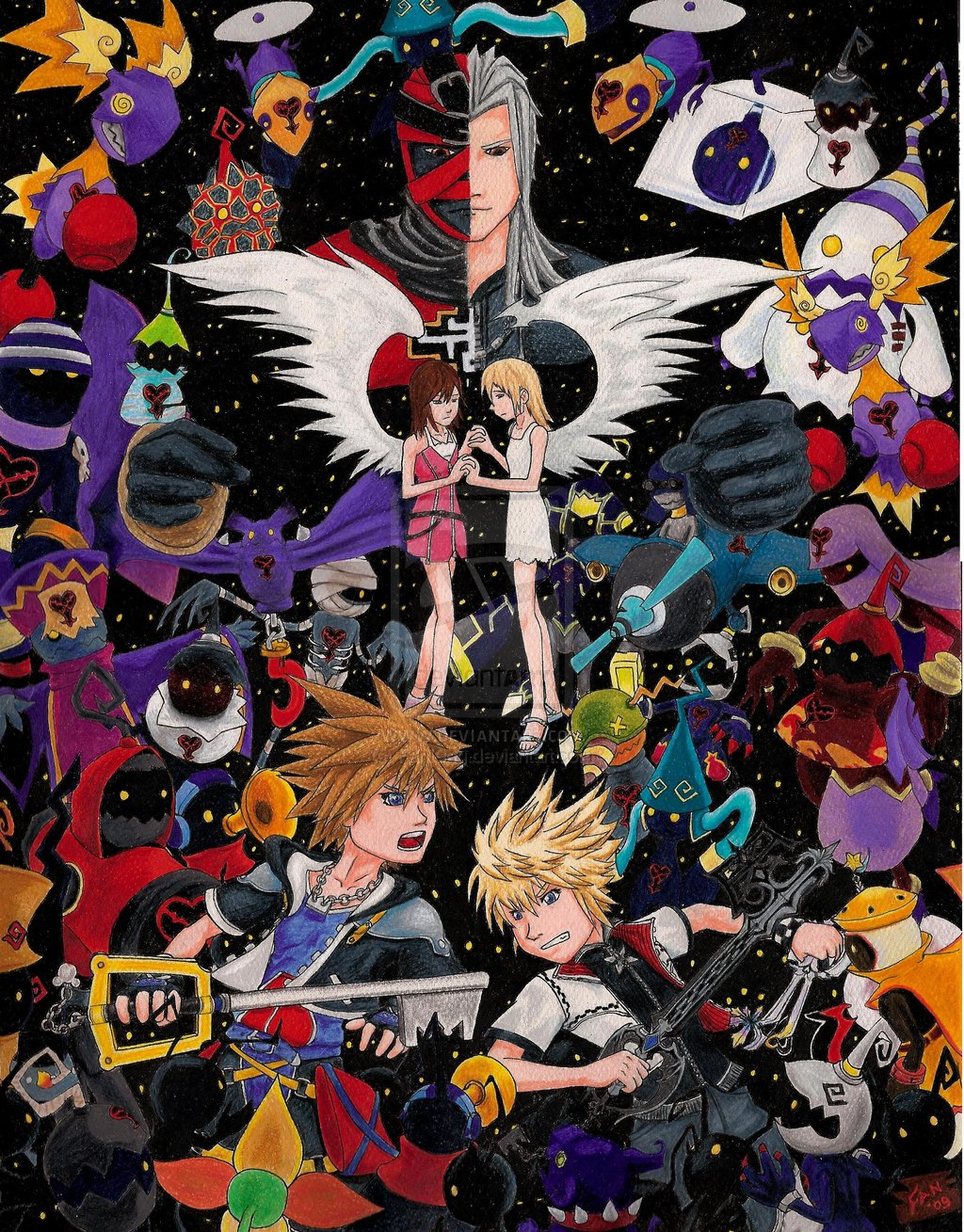 Kingdom Hearts Collage by RhiaKolareny