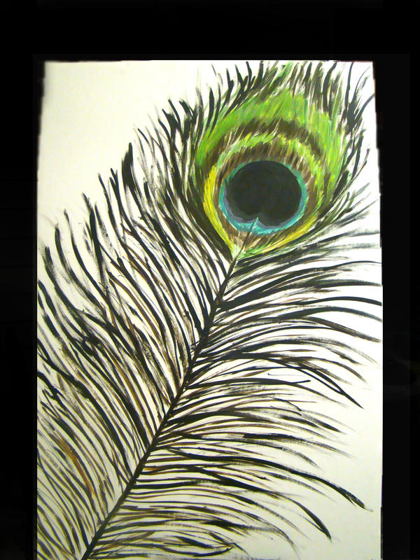 Peacock Abstract Drawing